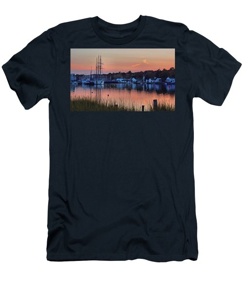 Evening Light Over Mystic Men's T-Shirt (Athletic Fit)
