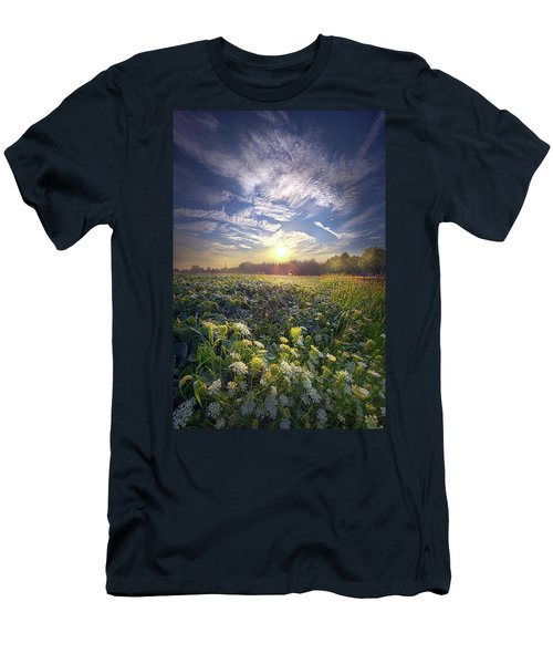 Men's T-Shirt (Athletic Fit) featuring the photograph Every Sunrise Needs Its Day by Phil Koch
