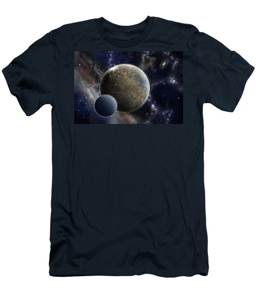 Exosolar Worlds Men's T-Shirt (Athletic Fit)