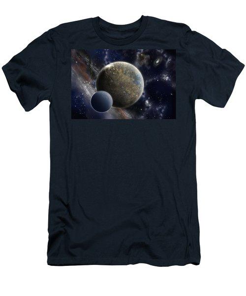 Exosolar Worlds Men's T-Shirt (Athletic Fit)