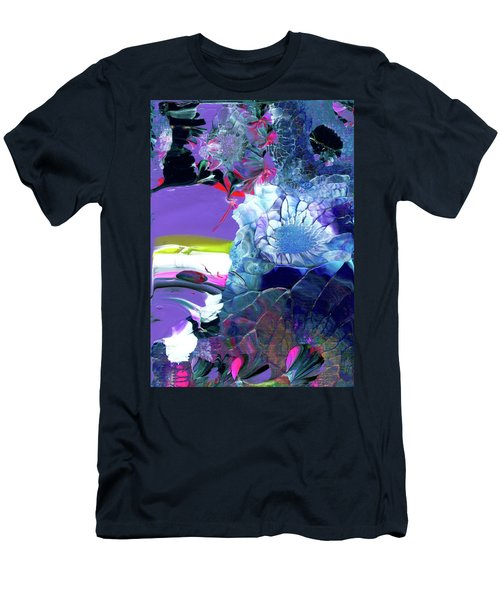 Exotic White Rose Island Men's T-Shirt (Athletic Fit)