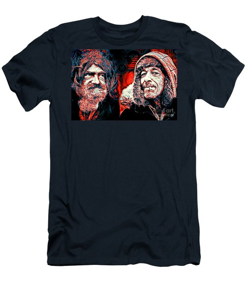 Men's T-Shirt (Slim Fit) featuring the digital art Expressions by Zedi