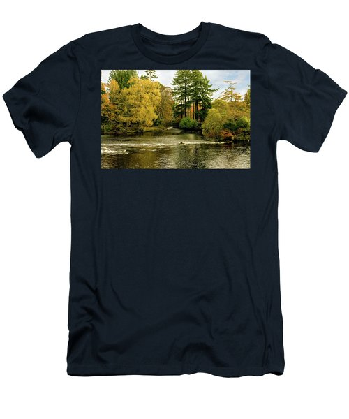Fall Colour On The River Ness Islands Men's T-Shirt (Slim Fit) by Jacqi Elmslie