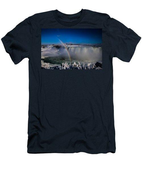 Falls Misty Rainbow  Men's T-Shirt (Athletic Fit)