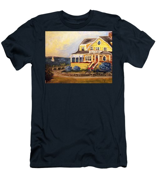 Falmouth Heights View Of Vineyard  Men's T-Shirt (Athletic Fit)