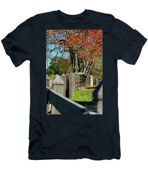 Familiar Fall Men's T-Shirt (Slim Fit) by Lori Mellen-Pagliaro