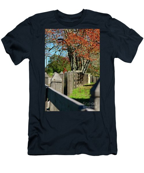 Men's T-Shirt (Athletic Fit) featuring the photograph Familiar Fall by Lori Mellen-Pagliaro
