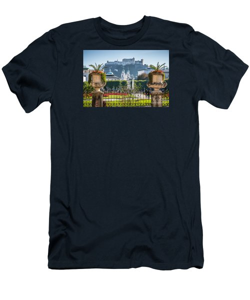 Famous Mirabell Gardens In Salzburg Men's T-Shirt (Athletic Fit)