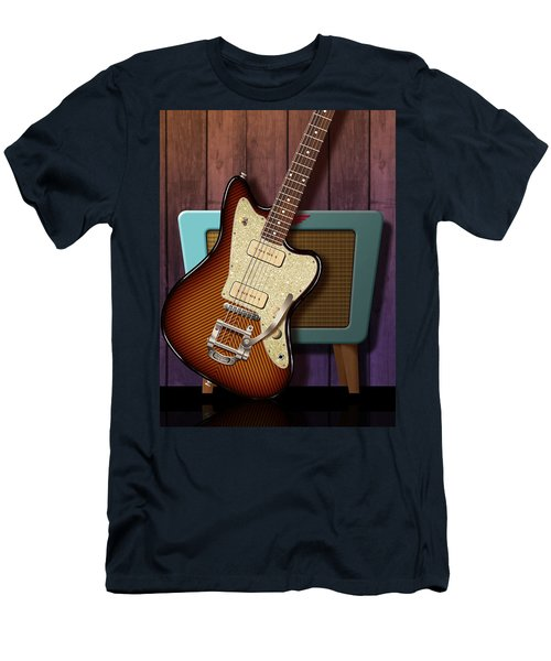 Men's T-Shirt (Slim Fit) featuring the digital art Fano Retro by WB Johnston