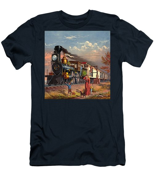 Fast Mail 1875 Men's T-Shirt (Slim Fit) by Padre Art