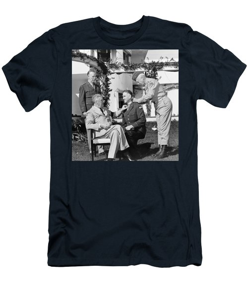 Fdr Presenting Medal Of Honor To William Wilbur Men's T-Shirt (Athletic Fit)
