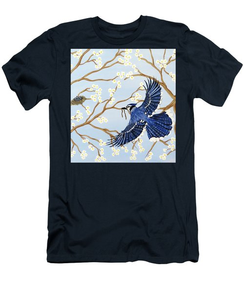Men's T-Shirt (Slim Fit) featuring the painting Feeding Time by Teresa Wing