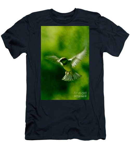 Feeling Free As A Bird Wall Art Print Men's T-Shirt (Athletic Fit)