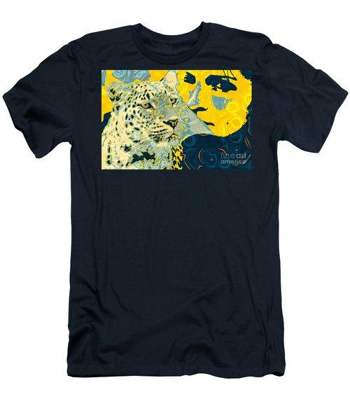 Men's T-Shirt (Slim Fit) featuring the digital art Feline Looks by Zedi
