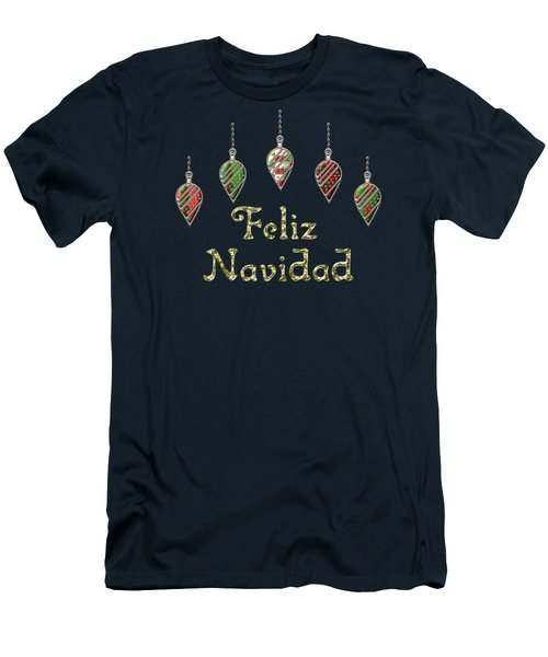 Feliz Navidad Spanish Merry Christmas Men's T-Shirt (Athletic Fit)