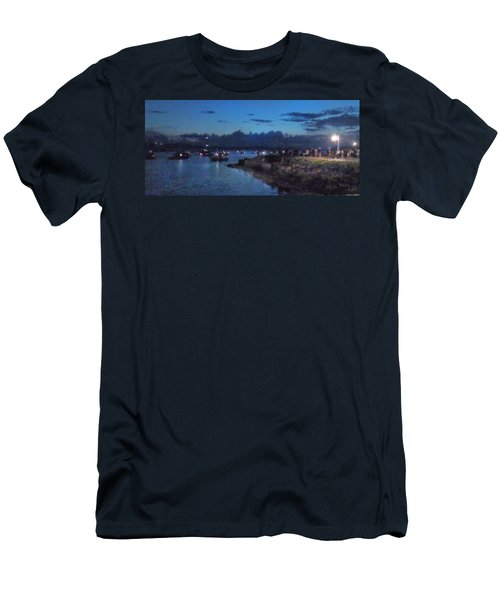 Festival Night Land And Shore Men's T-Shirt (Slim Fit) by Felipe Adan Lerma