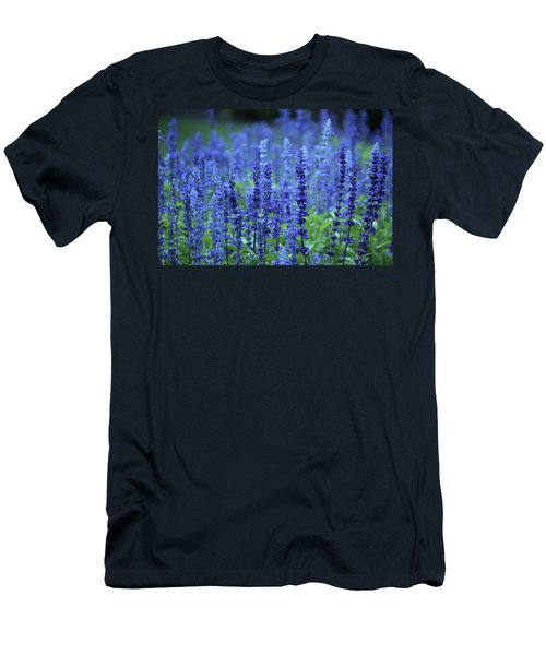 Men's T-Shirt (Slim Fit) featuring the photograph Fields Of Blue by Rowana Ray