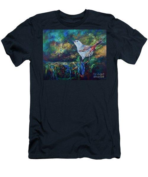 Gray Catbird Men's T-Shirt (Athletic Fit)