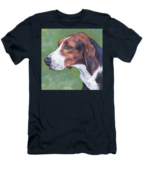 Men's T-Shirt (Slim Fit) featuring the painting Finnish Hound by Lee Ann Shepard