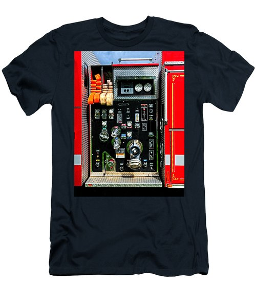 Fire Truck Control Panel Men's T-Shirt (Slim Fit) by Dave Mills