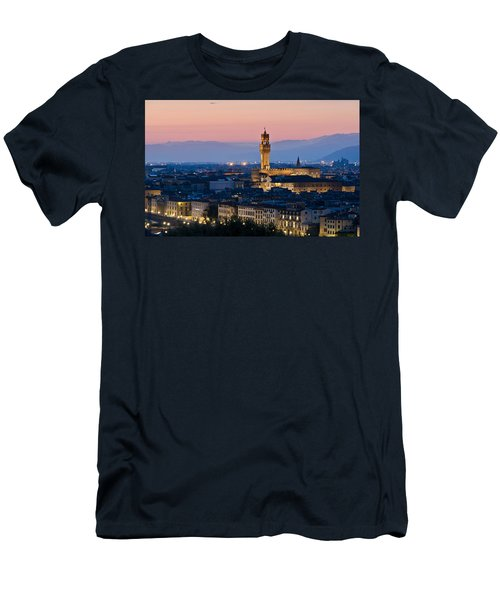 Firenze At Sunset Men's T-Shirt (Athletic Fit)