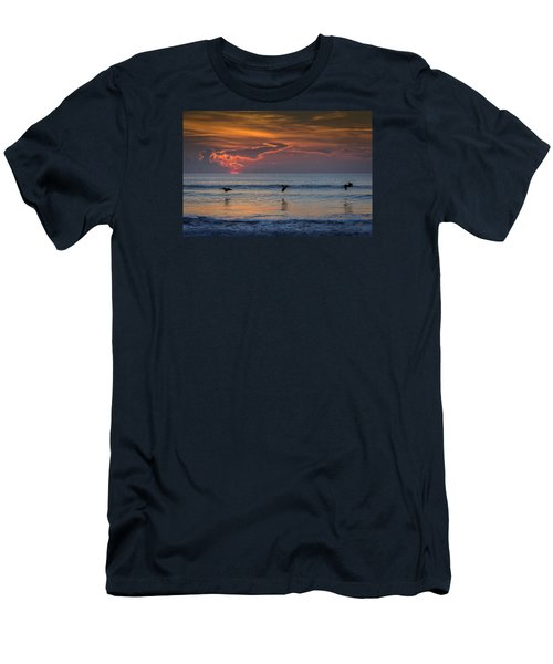 Men's T-Shirt (Athletic Fit) featuring the photograph First Flight First Light by Steven Sparks