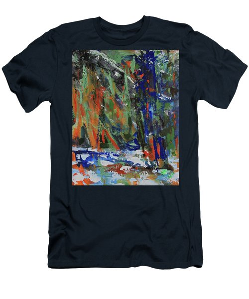 Men's T-Shirt (Athletic Fit) featuring the painting First Snow Over Tenaya Creek by Walter Fahmy