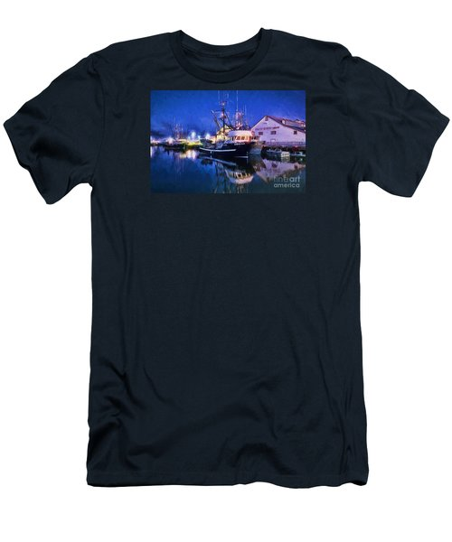 Fish Boats Men's T-Shirt (Slim Fit) by Jim  Hatch