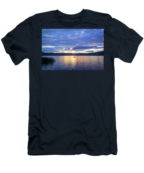 Fisherman Heading Home Men's T-Shirt (Slim Fit) by Keith Boone