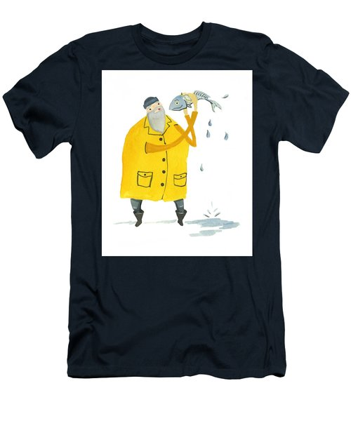 Fisherman Men's T-Shirt (Slim Fit) by Leanne WILKES