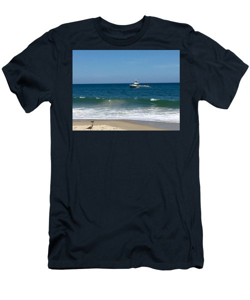 Fishing Boat Men's T-Shirt (Slim Fit) by Dorothy Maier