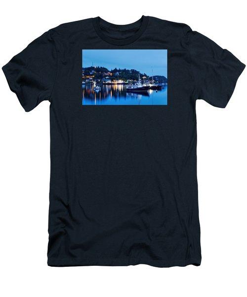 Fishing Boats Of Orban Men's T-Shirt (Slim Fit) by Robert Charity