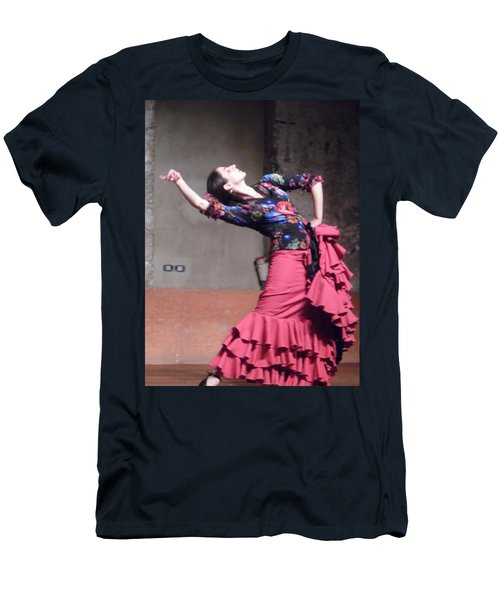 Men's T-Shirt (Athletic Fit) featuring the photograph Flamenco Passion by Esther Newman-Cohen