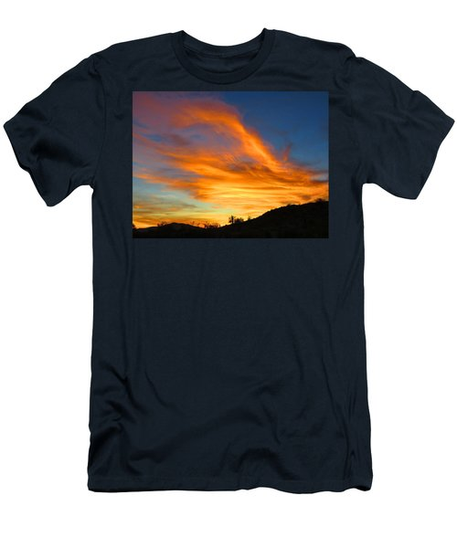 Flaming Hand Sunset Men's T-Shirt (Athletic Fit)