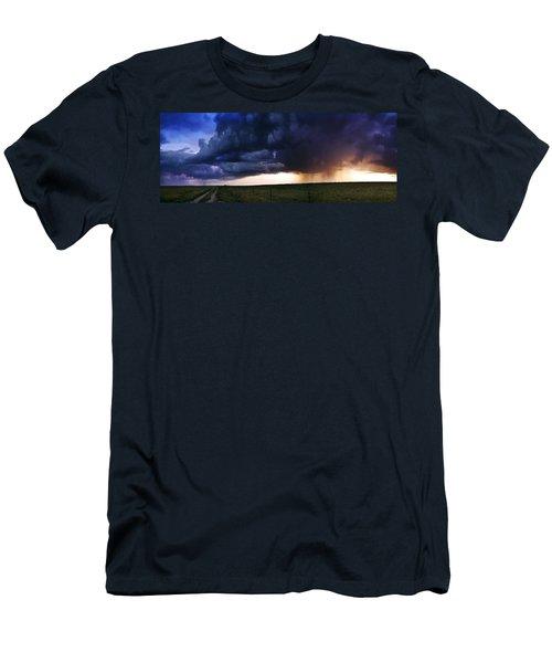 Flint Hills Storm Panorama  Men's T-Shirt (Athletic Fit)