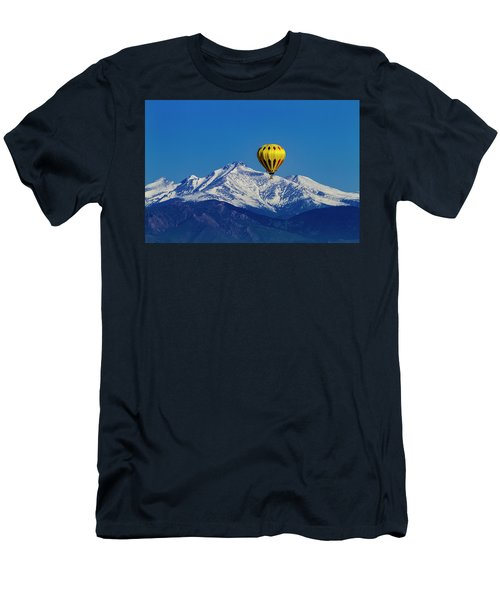 Floating Above The Mountains Men's T-Shirt (Slim Fit) by Teri Virbickis