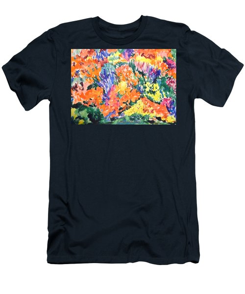 Flora Ablaze Men's T-Shirt (Slim Fit) by Esther Newman-Cohen
