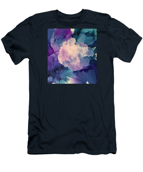 Men's T-Shirt (Slim Fit) featuring the painting Floral Abstract by Suzanne Canner