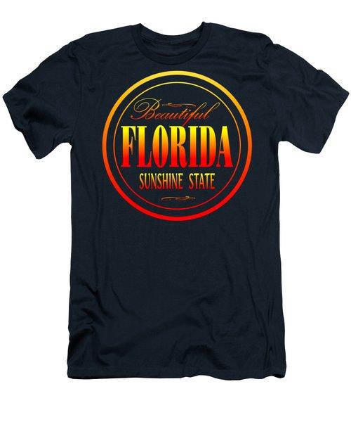 Florida Sunshine State Design Men's T-Shirt (Athletic Fit)