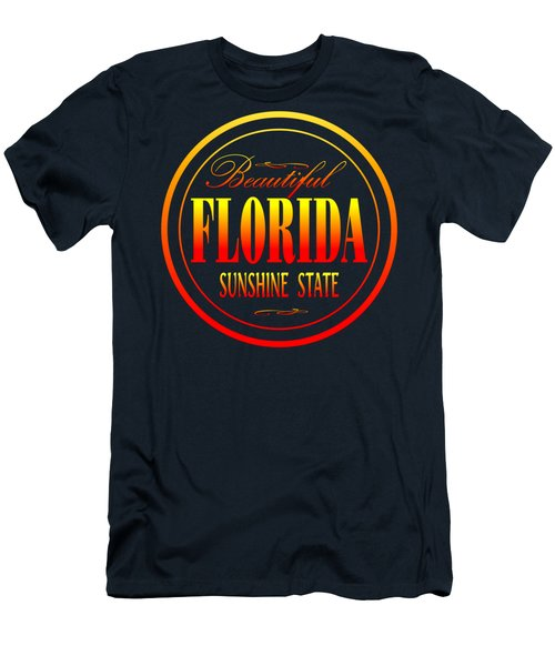Florida Sunshine State Design Men's T-Shirt (Athletic Fit)