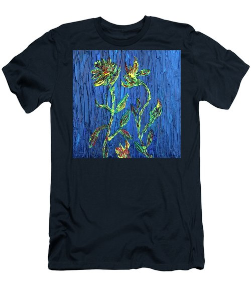 Men's T-Shirt (Slim Fit) featuring the painting Flower Dance by Vadim Levin