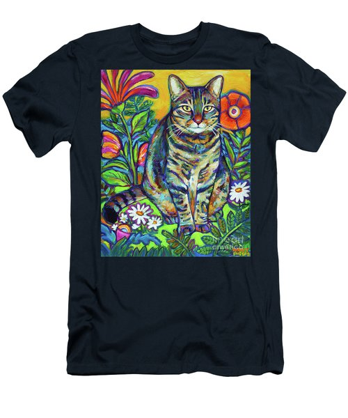 Flower Kitty Men's T-Shirt (Slim Fit) by Robert Phelps