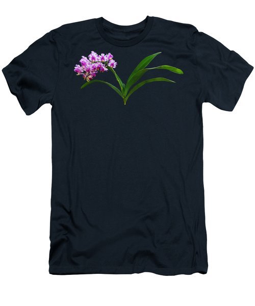 Flowers - Aerides Lawrenciae X Odorata Orchid Men's T-Shirt (Athletic Fit)