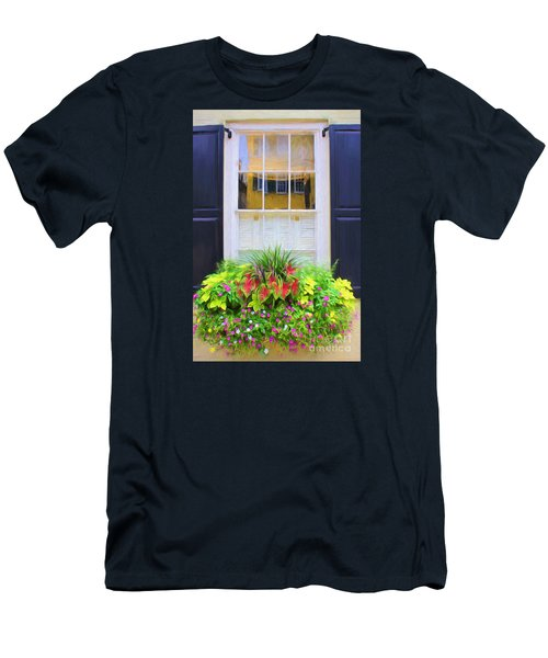 Flowers And Reflections Men's T-Shirt (Athletic Fit)