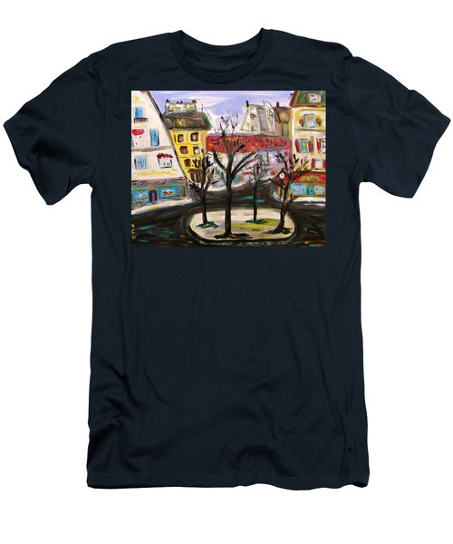 Flowers At The Corner Men's T-Shirt (Athletic Fit)