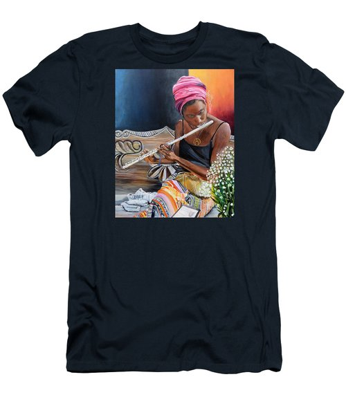 Flute Player Men's T-Shirt (Slim Fit)