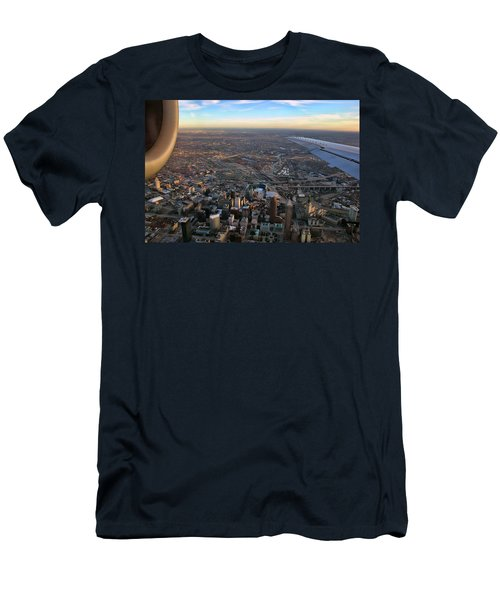 Flying Over Cincinnati Men's T-Shirt (Athletic Fit)