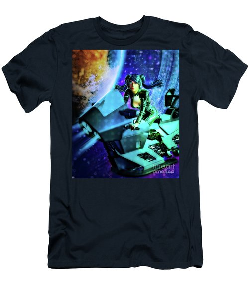 Flying Through Galaxies Men's T-Shirt (Athletic Fit)