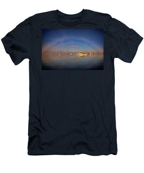 Men's T-Shirt (Athletic Fit) featuring the photograph Fogbow In Lubec Harbor by Rick Berk