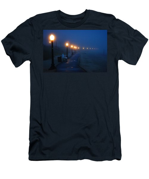 Foggy Boardwalk Blues Men's T-Shirt (Athletic Fit)